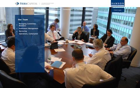 Screenshot of Team Page samsonca.com - Samson Capital Advisors | Our Team - captured Feb. 4, 2016