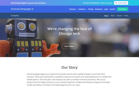 Screenshot of About Page activecampaign.com - About ActiveCampaign - Email Marketing Company - captured June 22, 2018