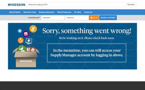 We're Sorry - McKesson Medical-Surgical