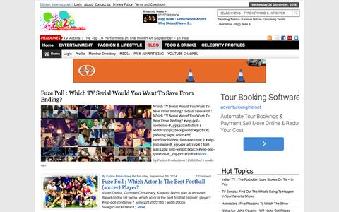 Screenshot of Blog fuzionproductions.com - BLOG Archives | Fuzion Productions | Fuzion Productions - captured Sept. 24, 2014