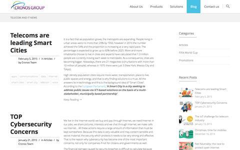 Screenshot of Blog cronosgroup.net - Cronos Group's Telecom and IT Blog - captured Dec. 13, 2015
