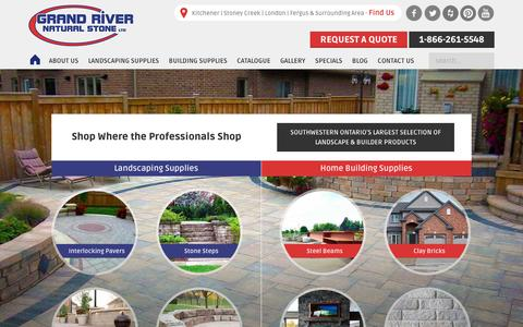 Screenshot of Home Page grandriverstone.com - Landscape & Building Supplies | Grand River Natural Stone - captured Dec. 13, 2015