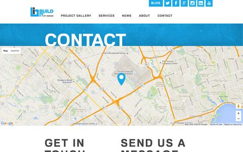 Screenshot of Contact Page builditbydesign.ca - Contact us your Toronto Contractor - captured Dec. 29, 2015