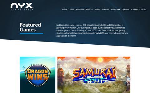 Games – NYX Gaming