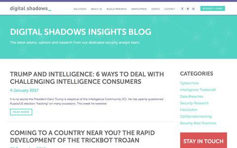 Digital Shadows Insights Blog » Digital Shadows
