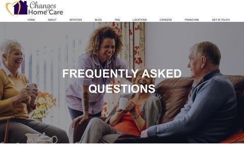 Screenshot of FAQ Page changeshomecare.com - FAQ – Changes Home Care - captured July 17, 2018