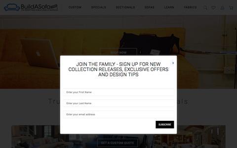 Screenshot of Home Page buildasofa.com - Custom Sofas And Sectionals | BuildASofa - captured June 28, 2017