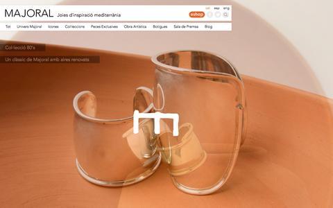 Screenshot of Home Page majoral.com - MAJORAL   Joies d'inspiració mediterrània - captured Sept. 30, 2014