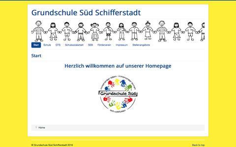 Screenshot of Home Page grundschule-sued-schifferstadt.de - Start - captured June 8, 2016