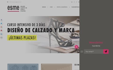 Screenshot of Home Page esme.es - ESME I Escuela Superior de Moda y Empresa - captured Nov. 10, 2016