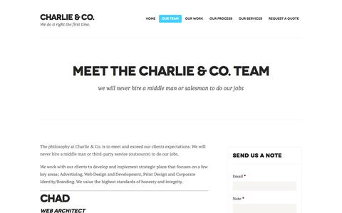 Screenshot of Team Page charlienco.ca - Meet the Charlie & Co. Team | Charlie & Co. - captured Nov. 4, 2016