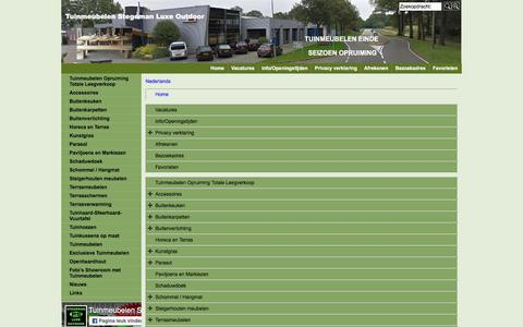 Screenshot of Site Map Page Menu Page luxeoutdoor.nl - Map - captured Dec. 3, 2016
