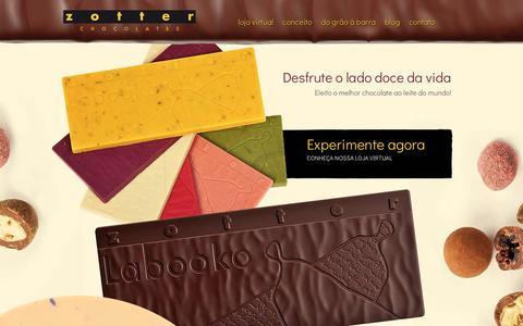 Screenshot of Home Page zotterbrasil.com.br - Zotter Chocolates - captured Jan. 23, 2017