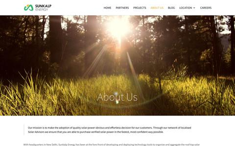 Screenshot of About Page sunkalp.com - About Us - Sunkalp.com - captured May 30, 2019