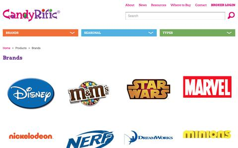 Screenshot of Products Page candyrific.com - CandyRific Brands - captured Sept. 26, 2018