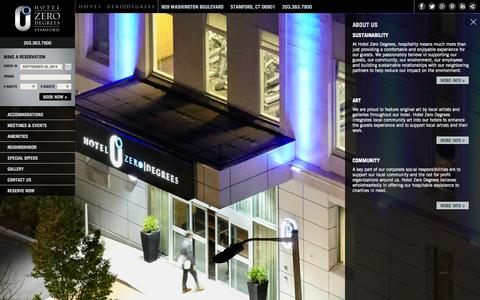 Screenshot of About Page hotelzerodegrees.com - About Us | Hotel Zero Degrees Connecticut - captured Sept. 24, 2014
