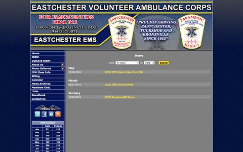 Screenshot of Press Page eastchesterems.com - - Eastchester Volunteer Ambulance Corps - captured Oct. 19, 2016