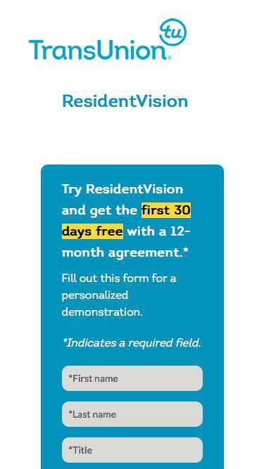 TransUnion ResidentVision