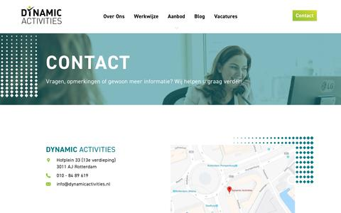 Screenshot of Contact Page dynamicactivities.nl - Contact - Dynamic Activities - captured May 12, 2018