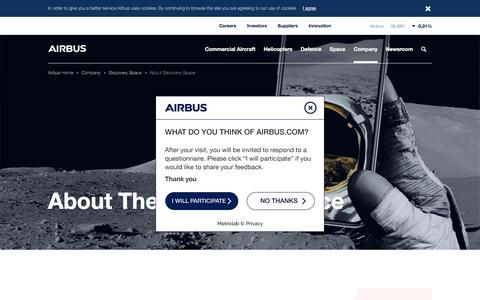 Screenshot of About Page airbus.com - About Discovery Space - captured May 4, 2018