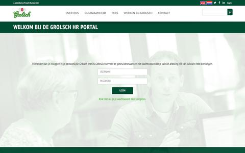 Screenshot of Login Page koninklijkegrolsch.nl - Gebruikersaccount   koninklijkegrolsch.nl - captured Sept. 20, 2017