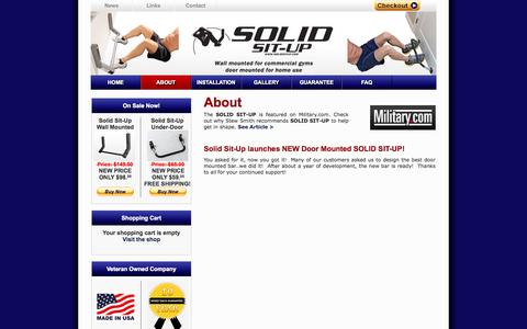 Screenshot of About Page solidsitup.com - About | Solid Situp - captured Oct. 6, 2014