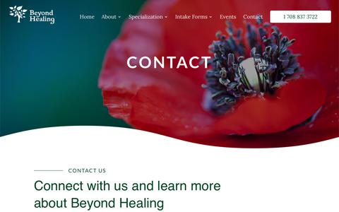 Screenshot of Contact Page beyondhealingcounseling.com - Beyondhealingcounseling | beyond healing counseling | Beyond Healing - captured Oct. 5, 2018