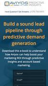 New Landing Page Aviyos Analytics
