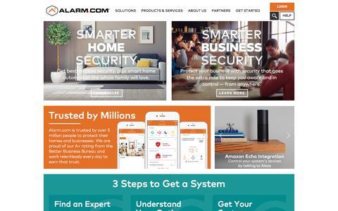Screenshot of Home Page alarm.com - Alarm.com - Home Security Systems, Alarm Monitoring, Video & Energy Management. - captured April 4, 2017