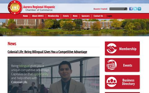 Screenshot of Press Page ahcc-il.com - Aurora Regional Hispanic Chamber of Commerce -ARHCC - captured Nov. 13, 2018