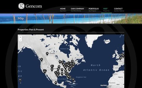 Screenshot of Maps & Directions Page gencomgrp.com - Map - Gencom - captured Oct. 8, 2014