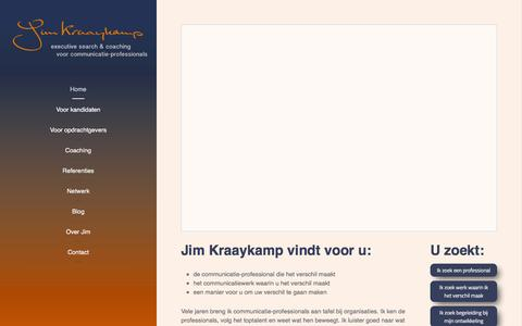 Screenshot of Home Page Site Map Page jimkraaykamp.nl - Jim Kraaykamp vindt voor u: - captured Feb. 11, 2016