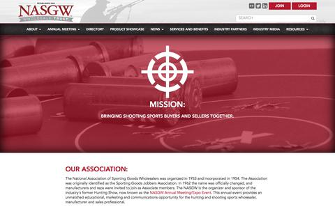 Screenshot of About Page nasgw.org - Our Association -  NASGW - captured Oct. 19, 2017