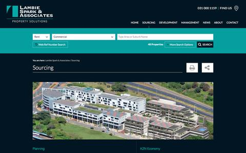 Screenshot of Services Page lambiespark.co.za - Sourcing Commercial & Industrial Property | Lambie Spark & Associates - captured June 4, 2018