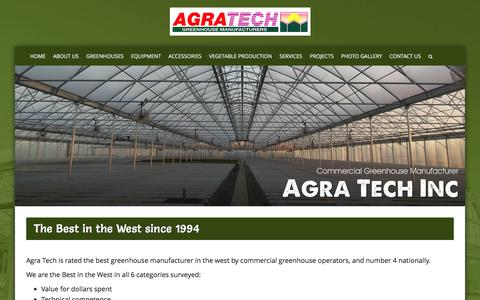 Screenshot of About Page agratech.com - Best Greenhouse Manufacturer | Vegetable Greenhouses Manufacturing - captured Jan. 24, 2017