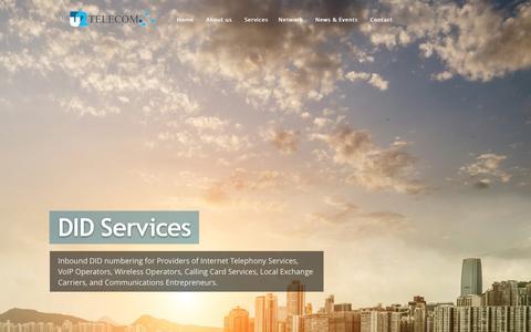 Screenshot of Home Page u2telecom.com - U2 Telecom Canada | Official Website - captured Feb. 3, 2016