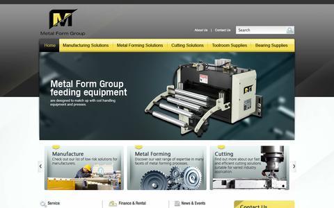 Screenshot of Home Page metalform.com.au - Toolmaking, Tool Design, Metal Stamping, Melbourne, Australia - captured Oct. 6, 2014
