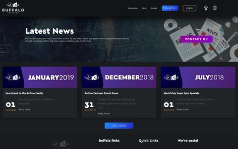 Screenshot of Press Page buffalopartners.com - Buffalo Partners - News - captured June 21, 2019