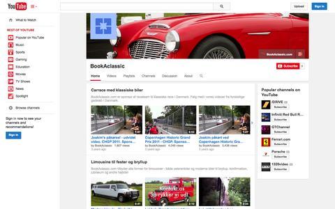 Screenshot of YouTube Page youtube.com - BookAclassic  - YouTube - captured Oct. 23, 2014