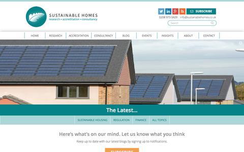 Screenshot of Blog sustainablehomes.co.uk - Blog - Sustainable Homes - captured Dec. 13, 2016