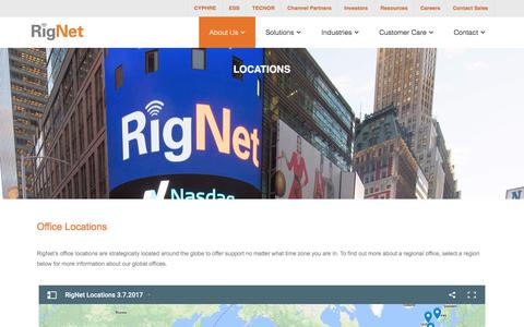 Screenshot of Locations Page rig.net - Locations - RigNet - captured Nov. 12, 2017