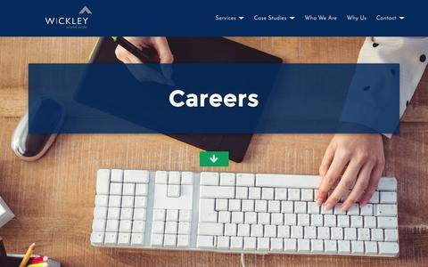 Screenshot of Jobs Page wickleyinteractive.com - Wickley World Wide - captured Dec. 3, 2016