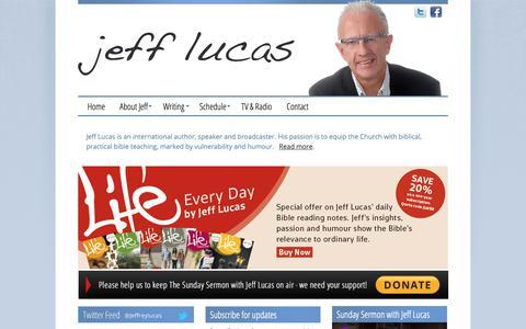 Screenshot of Home Page jefflucas.org - Jeff Lucas Official Website - captured Oct. 26, 2018