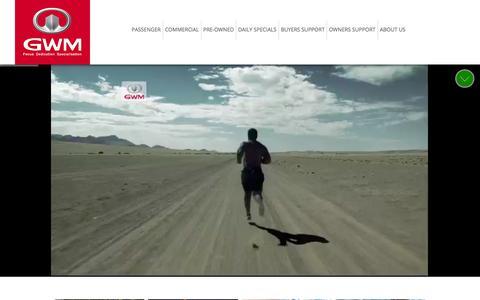 Screenshot of Home Page gwm.co.za - Home | GWM South Africa (Pty) Ltd - captured Sept. 19, 2014