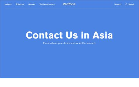 Screenshot of Contact Page verifone.com - Contact Us in Asia - Verifone.com - captured Oct. 1, 2018