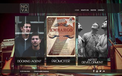 Screenshot of Home Page novamusic.co.uk - Nova Music - captured Oct. 6, 2014
