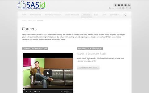 Careers at SASid insurance development    SASid = Smart and Simple insurance development