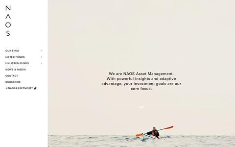 Screenshot of Home Page naos.com.au - NAOS | Asset Management - captured Sept. 5, 2015