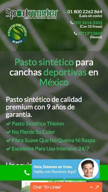 Screenshot of  canchaspastosintetico.mx - CANCHAS DE PASTO SINTÉTICO