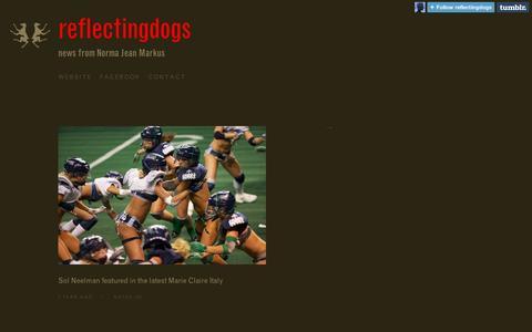 Screenshot of Blog tumblr.com - reflectingdogs - captured Sept. 11, 2014